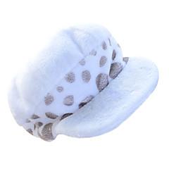 Hat/Kasket Inspireret af One Piece Trafalgar Law Anime Cosplay Tilbehør Kasket / Hat Hvid Polar Fleece Mand