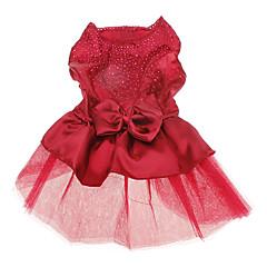 Psy Suknie Red Niebieski Ubrania dla psów Lato Wiosna/jesień Jendolity kolor Cekiny Ślub Motyw świąteczny Modny