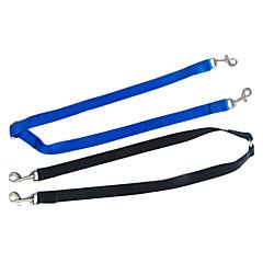 Köpekler Tasma Kayışı Çift Siyah / Mavi Naylon