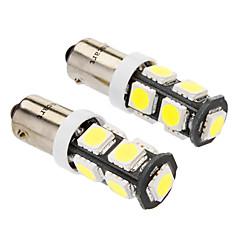 BA9S 4w 9x5060smd 320-360lm 6000-6500K wit licht LED lamp voor in de auto (dc 12v, 2-pack)