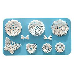 Forma do pieczenia Kwiat Koronkowe na ciasto Dla Cookie Dla Pie Silikon Przyjazne dla środowiska Wysoka jakość Walentynki