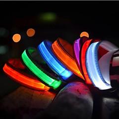 Kediler / Köpekler Yakalar LED Işıklar Tek Renk Kırmızı / Beyaz / Yeşil / Mavi / Sarı / Turuncu Naylon