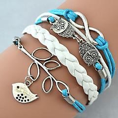 Damen Bettelarmbänder Wickelarmbänder Lederarmbänder Basis Freundschaft Modisch Handgemacht individualisiert Mehrlagig Modeschmuck Leder
