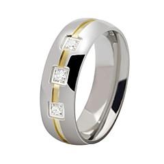 Férfi Karikagyűrűk Személyre szabott jelmez ékszerek Rozsdamentes acél Cirkonium Ékszerek Kompatibilitás Parti Napi Hétköznapi