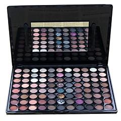 88 Oogschaduwpalet Droog / Mat / Glinstering / Mineraal Oogschaduw palet Poeder Grote Smokey make-up / Feestelijke make-up