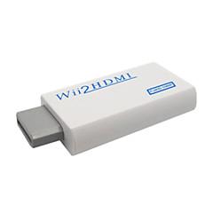 Φορητός Μετατροπέας Wii σε HDMI 720P/ 1080p με HDMI αρσενικό σε αρσενικό καλώδιο - Λευκό