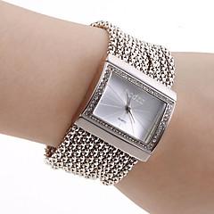 Mulheres Relógio de Moda Bracele Relógio Japanês Quartzo Cobre Banda Brilhante Elegantes Luxuoso Prata Prata