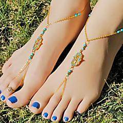 Γυναικεία Βραχιόλι αστραγάλου/Βραχιόλια Κράμα απομίμηση διαμαντιών Μοναδικό Μοντέρνα Κοσμήματα Χρυσό Γυναικεία Κοσμήματα Καθημερινά Causal