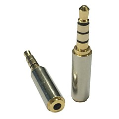 2.5mm dişi stereo ses kulaklık mikrofon adaptör çevirici altın 3.5mm erkek