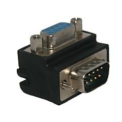 standaard rechte hoek van 90 graden DB9P vrouw naar man 9pin connector adapter