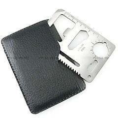 Credit Card túlélési eszköz Rozsdamentes acél ezüst db