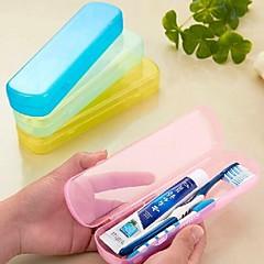 여행용 칫솔 보관함 견고함 휴대용 용 세면용품옐로우 그린 블루 핑크