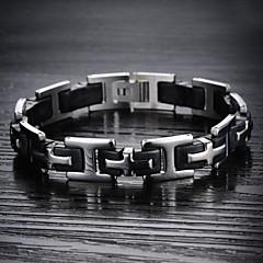 Heren Armbanden met ketting en sluiting Kostuum juwelen Siliconen Titanium Staal Sieraden Voor Bruiloft Feest Dagelijks Causaal Sport