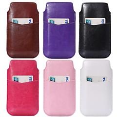 skøre hest tekstur pu læder poser med kort slot til Samsung s4 i9500 s3 i9300