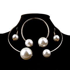 Damskie Zestawy biżuterii Modny Elegancki Ślubny Ponadgabarytowych biżuteria kostiumowa Perłowy Imitacja pereł Stop Owalne Náušnice