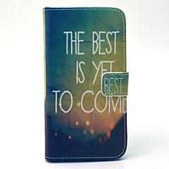 For Samsung Galaxy etui Pung Kortholder Med stativ Etui Heldækkende Etui Landskab Hårdt Kunstlæder for SamsungS6 edge S6 S5 Mini S5 S4