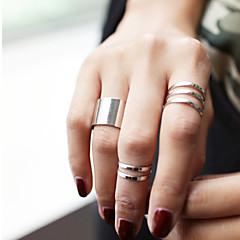 Damskie Zestawy biżuterii Pierścionki na środek palca Modny Osobiste biżuteria kostiumowa Stop Circle Shape Biżuteria Na Impreza