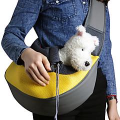 قط كلب الحاملة حقائب تحمل على الظهر وللسفر حقيبة حبال حيوانات أليفة سلال سادة المحمول متنفس أصفر وردي أخضر أزرق زهري