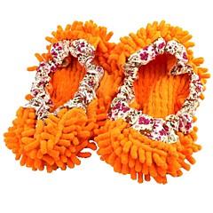 바닥 게으른 신발 커버 오렌지를 총정리 셔닐 슬리퍼