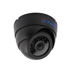 yanse® 1000tvl 2,8 χιλιοστών πλαστική εσωτερική δ / n CCTV IR κάμερα 24 οδήγησε θόλο ενσύρματο 632cf