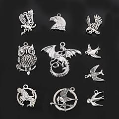 beadia metal ugle&due&sluge charme vedhæng antik sølv DIY smykker tilbehør