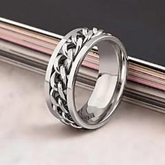 Heren Dames Statementringen Modieus Europees Kostuum juwelen Roestvast staal Legering Sieraden Voor Dagelijks Causaal