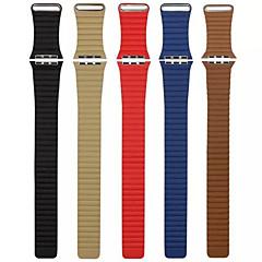Laço de couro para relógio de maçã 38mm 42mm pulseira pulseira de relógio de reposição de couro