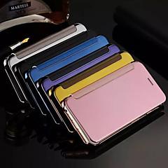 Kompatibilitás iPhone X iPhone 8 iPhone 8 Plus iPhone 6 iPhone 6 Plus tokok Galvanizálás Tükör Flip Teljes védelem Case Tömör szín Kemény
