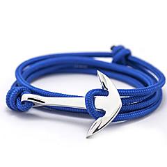 Heren Dames Voor Stel Bedelarmbanden Vriendschap armbanden Wikkelarmbanden Basisontwerp Vriendschap Modieus Kostuum juwelen Legering Anker