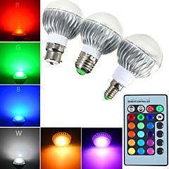 5W E14 / GU10 / B22 / E26/E27 LED gömbbúrás izzók A60(A19) 1 Nagyteljesítményű LED 540 lm RGB Távvezérlésű / Dekoratív / ÁllíthatóAC