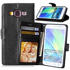 For Samsung Galaxy etui Kortholder Med stativ Flip Magnetisk Etui Heldækkende Etui Helfarve Kunstlæder for Samsung A5 A3