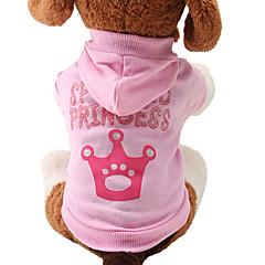 katten / honden Hoodies Roze Hondenkleding Lente/Herfst Tiara's & Kronen Schattig / Modieus