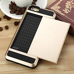 Kompatibilitás iPhone 8 iPhone 8 Plus iPhone 6 iPhone 6 Plus tokok Kártyatartó Hátlap Case Páncél Kemény Fém mert Apple iPhone 8 Plus