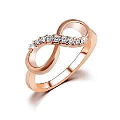 Női Karikagyűrűk jelmez ékszerek Cirkonium végtelenség Ékszerek Kompatibilitás Esküvő Parti Napi Hétköznapi