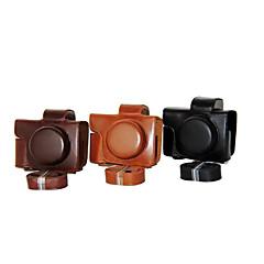 올림푸스의 E-M10 마크 II EM10의 MARK2에 대한 dengpin® PU 가죽 카메라 케이스 가방 커버 (14-42mm EZ 렌즈 (모듬 색상)