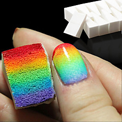 8pcs unhas gradiente ferramentas de arte unhas esponjas macias para a cor desvanece-se manicure DIY suprimentos acessórios criativos unhas