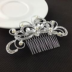 srebrne grzebienie crystal pearl włosów dla wesele pani biżuterię