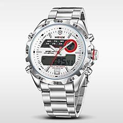 WEIDE Αντρικά Ρολόι Καρπού Ψηφιακό ρολόι Χαλαζίας Ψηφιακό Γιαπωνέζικο QuartzLCD Ημερολόγιο Χρονογράφος Ανθεκτικό στο Νερό Διπλές Ζώνες