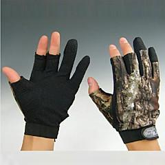 kort 3 fingrar kamouflage Fiske Jakt anti slip handskar för xxl storlek