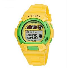 SYNOKE Børn Sportsur Armbåndsur Digital Watch Digital LCD Kalender Kronograf Vandafvisende alarm Selvlysende Gummi Bånd Blåt Grøn Pink Gul