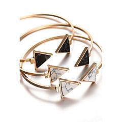 Naisten Rannerenkaat Rannekkeet Bohemia Style Personoitu pukukorut Metalliseos Geometric Shape Triangle Shape Korut Käyttötarkoitus Party