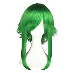 Cosplay-Peruukit Vocaloid Gumi Vihreä Medium Anime Cosplay-Peruukit 55 CM Heat Resistant Fiber Uros / Naaras