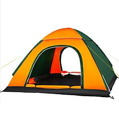 3-4 kişi Çadır Tek Kamp çadırı Bir Oda Otomatik Çadır Nemgeçirmez İyi Havalandırılmış Su Geçirmez Ultravioleye Karşı Dayanıklı Hava Alan