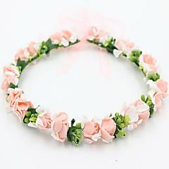 piękna róża wieńce kwiatowe pałąk dla Lady wesele wakacje włosy biżuterii