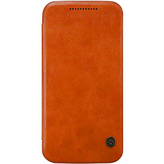 Για Θήκη Motorola Θήκη καρτών / Ανοιγόμενη tok Πλήρης κάλυψη tok Μονόχρωμη Σκληρή Γνήσιο δέρμα Motorola Moto X Play