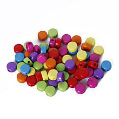 beadia 모듬 된 색상 아크릴 비즈 플랫 라운드 플라스틱 느슨한 구슬 5x8mm (50g / 약 210pcs)