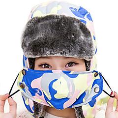 귀덮개 모자 털/모피 모자 스키 모자 남성용 보온 스노우보드 폴리에스터 스키 캠핑 & 하이킹 스노우스포츠 다운힐 겨울