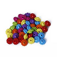 beadia 모듬 된 색상 아크릴 비즈 (50g / 약 250PCS) daimond 플라스틱 스페이서 느슨한 구슬 6x9mm