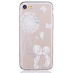 For iPhone 7 etui iPhone 7 Plus etui iPhone 6 etui Transparent Præget Mønster Etui Bagcover Etui Mælkebøtte Blødt TPU for AppleiPhone 7