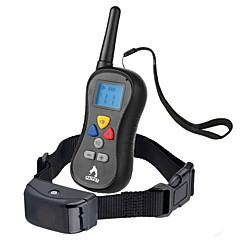 النباح الياقة ياقات تدريب الكلاب مقاوم للماء مكافحة النباح التحكم عن بعد LCD 300M اهتزاز سادة نايلون